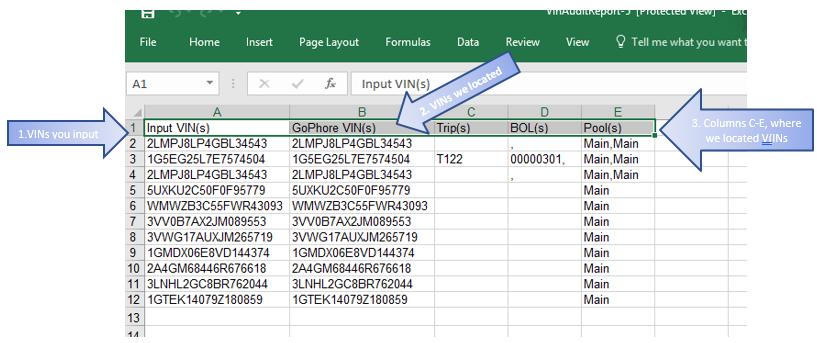 VIN Audit Report – GoPhore - Auto Carrier Software